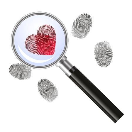 eyesight: Looking for love - concept Illustration