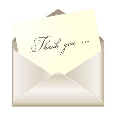 acknowledgment: Thank you card