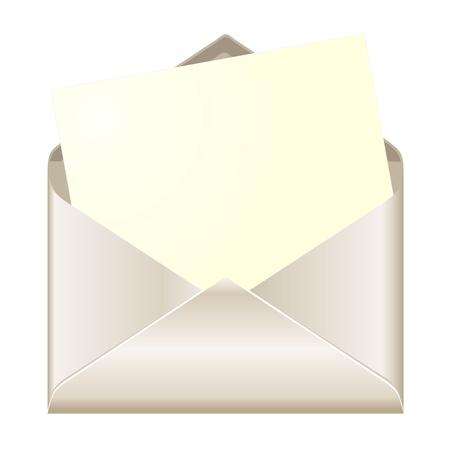 Enveloppe ouverte avec la carte Illustration