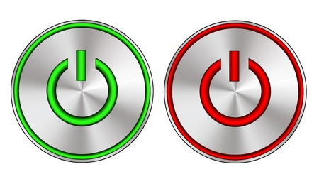 interruttore: Metallico e il pulsante di accensione con luci a led