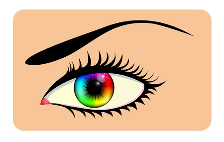 Rainbow eye Vector