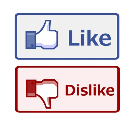 Like and dislike button Stock Photo - 14376583