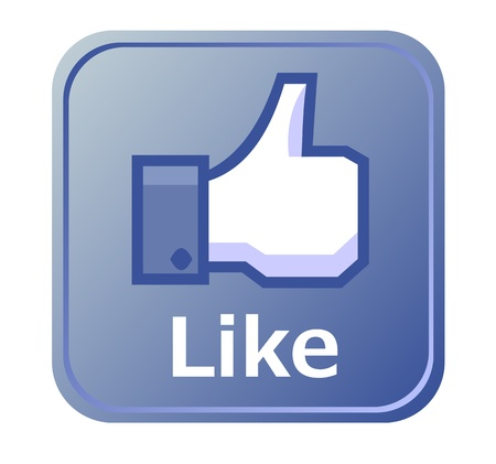 Thumbs up button - like button Stock Photo - 14376581