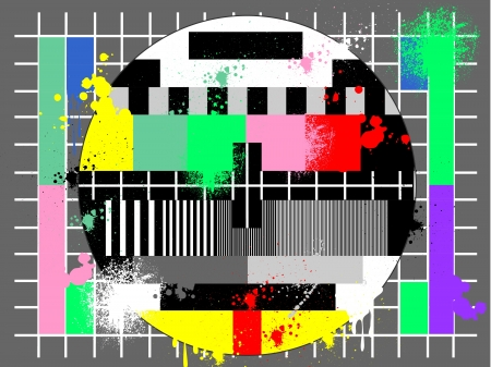 Color test for tv in grunge style Stock Vector - 14388390