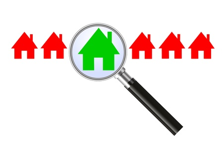 Searching for a house - concept Stock Vector - 14388365
