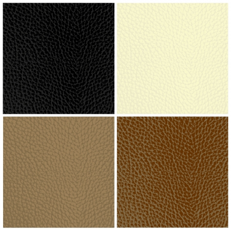leather background: Set of leather textures