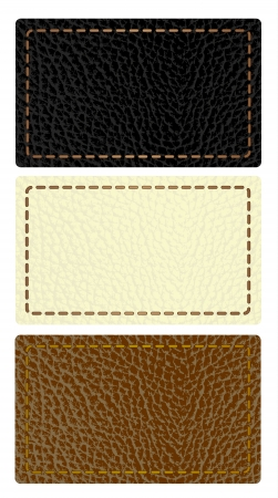 Set of leather labels Stock Vector - 14388389