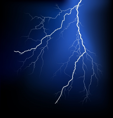 thunder storm: Detailed lightning vector