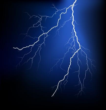 rayo electrico: Vector de un rayo detallada