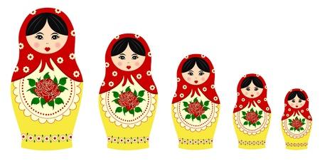mu�ecas rusas: Las mu�ecas tradicionales matryoschka