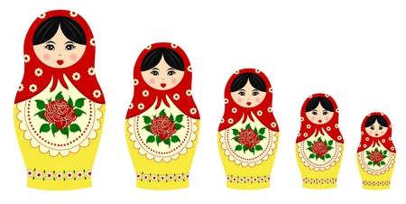 Traditionnelle des poupées matryoschka Illustration