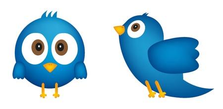 Caricature d'oiseau bleu