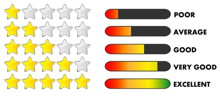 average: Rating stars and bars