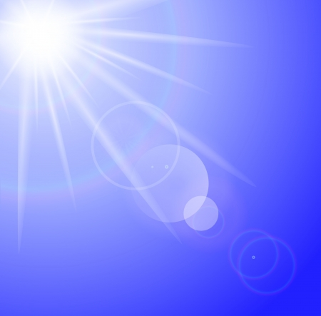 Sun with lens flare background Stock Vector - 15820583
