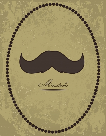 black head and moustache: Moustache background Illustration