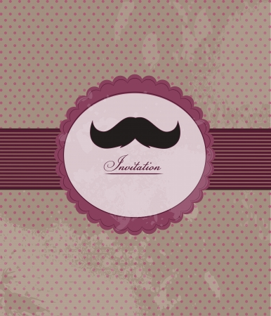 Moustache background invitation