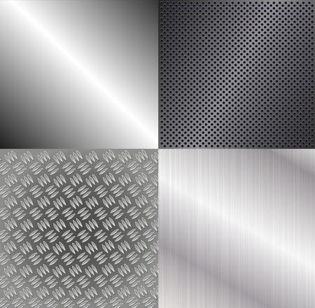 shiny metal: Set of metallic backgrounds