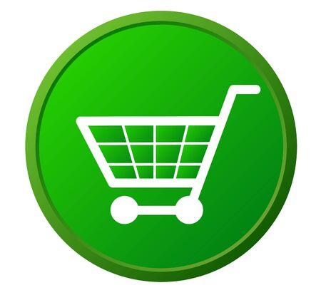 Shopping basket button Stock Vector - 17301585