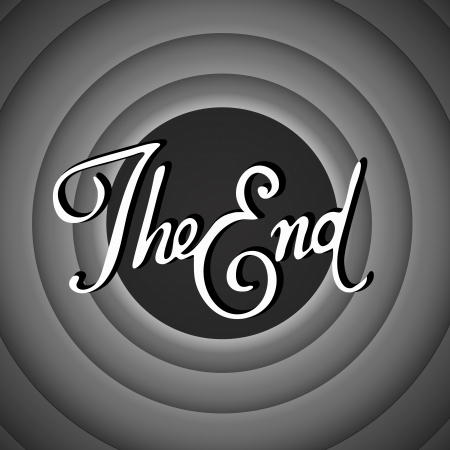 50s: Vintage movie ending screen Illustration