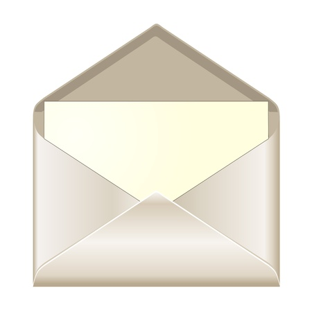 envelope: Open envelope with card