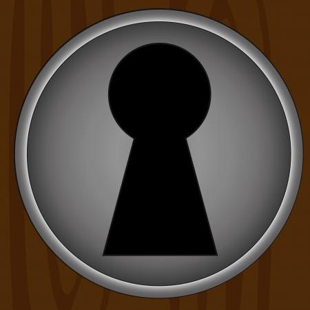 meraklı: Anahtar deliği background vector. Kolayca anahtar deliği arkasında kendi fotoğrafını koydu