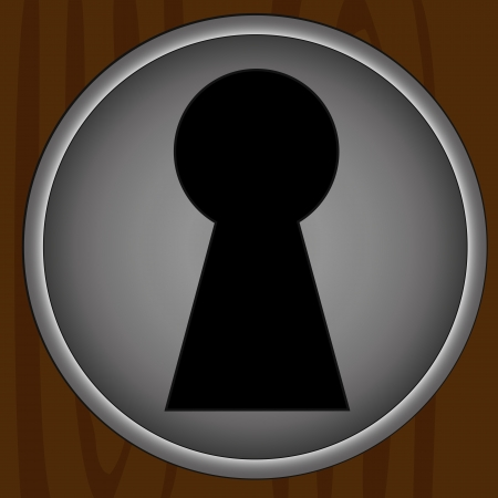 keyholes: Key hole background vector. Easily put your own photo behind the key hole