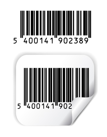 Barcode vector Vector Illustratie