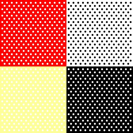 polka dots: Four polka dots backgrounds Illustration