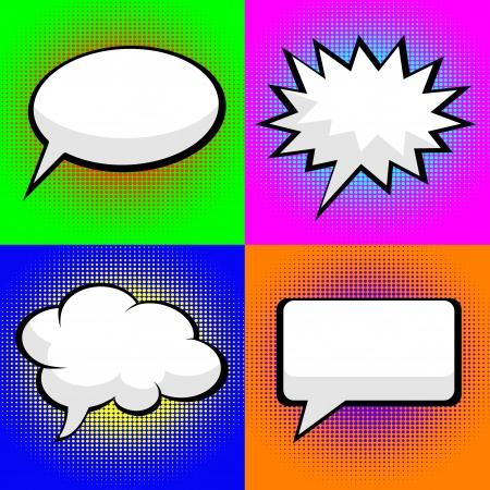 pop art comic speech bubbles Illustration