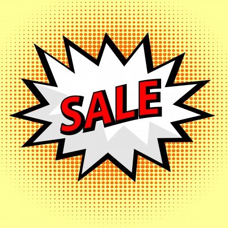 Sale label in pop art style Stock Vector - 17301783