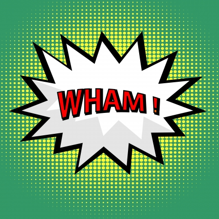 comic book: Wham! comic cloud in pop art style