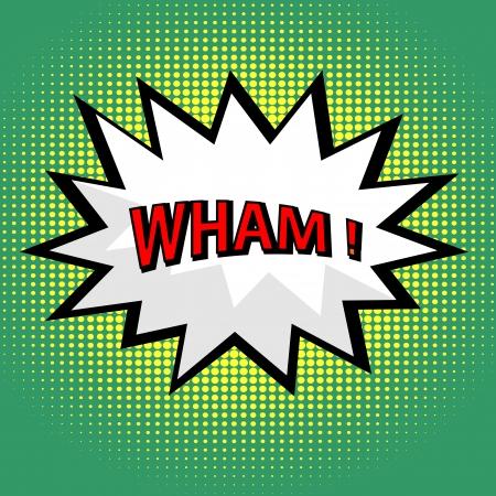Wham! nuage de bande dessinée dans le style pop art Illustration