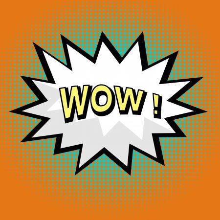 wow: Wow! comic speech bubble in pop art style