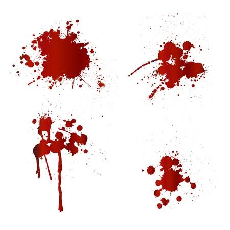 Éclaboussures de sang Vecteurs