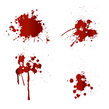 blood stain: Blood splatters Illustration