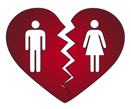 divorce: couple getting divorced Illustration