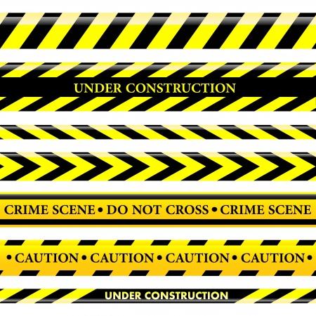 uyarı: Tehlike ve polis hatları ayarlayın Çizim
