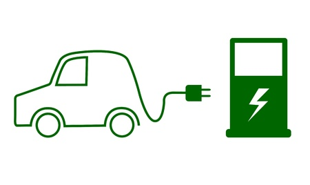 Electric car concept Stock Vector - 17301766