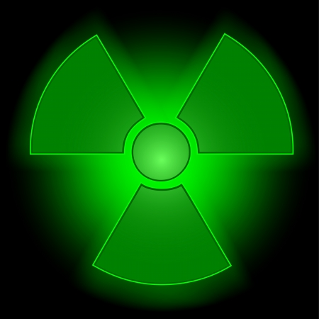 Glowing radioactive symbol Vector