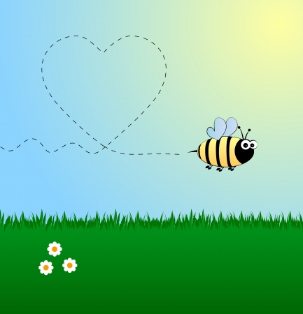 Bee in love Illustration