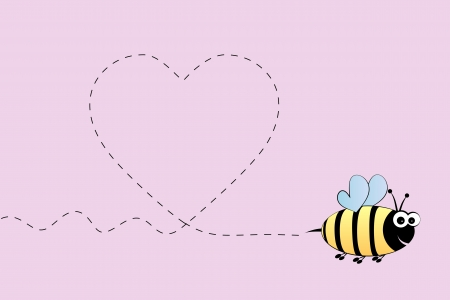 honeybee: Bee in love Illustration