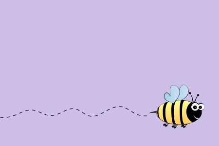 bumble bee: Bee flight background Illustration