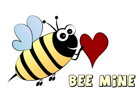 Bee mine- love concept Vector
