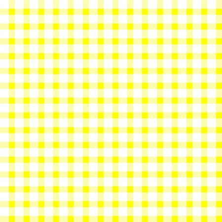 picnic blanket: Seamless retro white-yellow square tablecloth