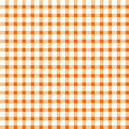 Seamless retro white-orange square tablecloth Vector