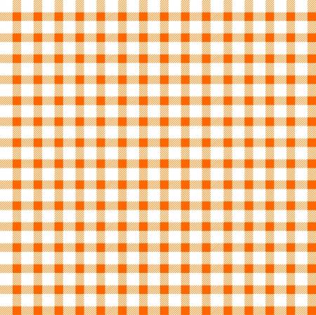 Seamless retro white-orange square tablecloth Stock Vector - 17302204