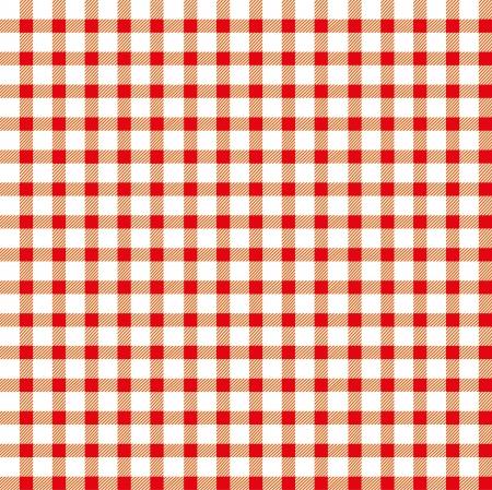 picnic blanket: Seamless retro white-red square tablecloth