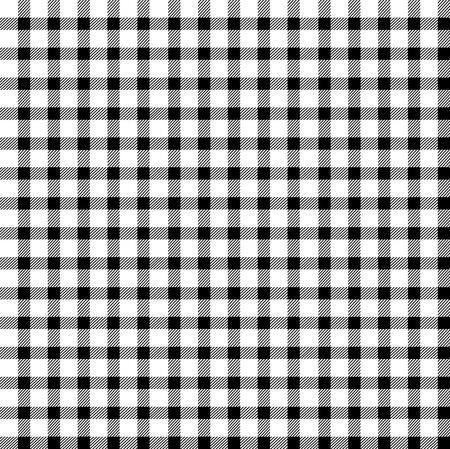 cuadros blanco y negro: Seamless retro blanco y negro mantel cuadrado