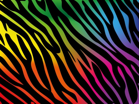 rainbow print: Rainbow zebra background