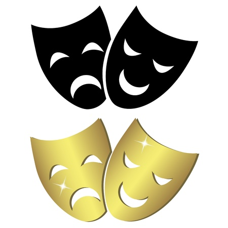 tragedy mask: Theater masks